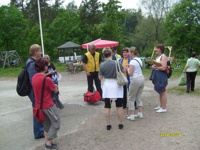Yhdistyksen jäsenet Villingin kesäretkellä 2009